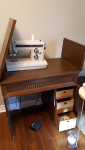 Kenmore Sewing machine in hardwood Cabinet