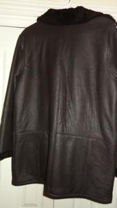 Shearling shaved ladies jacket 16/18 new Dark Brown