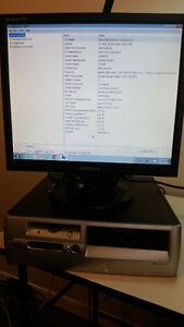 "HP5000 desktop with 19"" flat screen monitor"