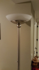 Floor lamp brushed steel 6 ft