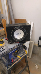 "10"" alpine subwoofer with box"