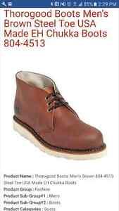 Thorogood Chukka Work Boots 9.5EE