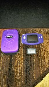 PURPLE NINTENDO GAMEBOY ADVANCE INCLUDES CASE + GAME