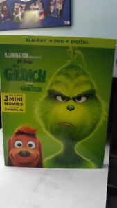 THE GRINCH  NEW RELEASE BLURAY DVD DIGITAL COMBO