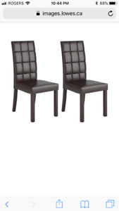 CorLiving  DAL-895-C Atwood Leatherette Dining Chairs (Set of 2)