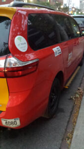 Taxi plate (TTL) for sale with Toyota sienna.