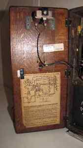 ANTIQUE NORTHERN ELECTRIC OAK WOOD WALL PHONE Kawartha Lakes Peterborough Area image 5