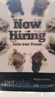 Busy Pet Valu needs Full Time Help