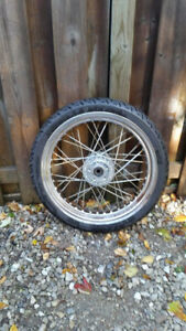1 Used Motorcycle Tire and Rim