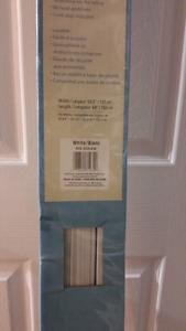 Vinyl white Blinds brand new in box
