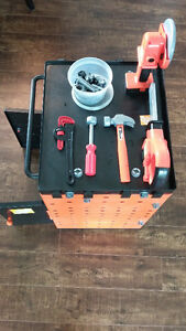 Home Depot Work Bench with Tools