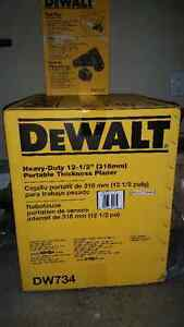 """DeWalt 12 1/2"""" Thickness Planer and dust hood BRAND NEW"""