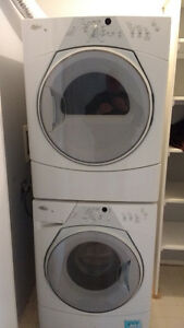 Whirlpool stacking washer and dryer