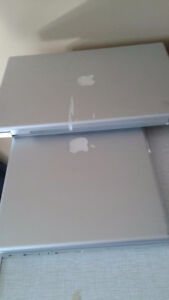 2 Mac Pro laptops for parts for sale