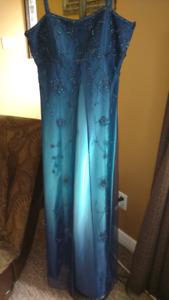 Elegant Beaded Empire Waist Prom Dress