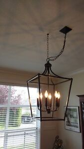 Chandelier and counter lights