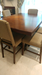 Asheley High wooden dinning table and 6chairs sets