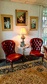 Vintage Leather Chairs. Chesterfield.