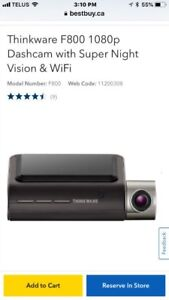 BRAND NEW THINKWAVE DASH CAM. F800. $250 firm.