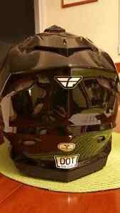 Medium x fly dual sport helmet.