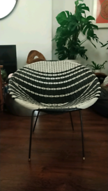 Vintage Mid-Century 1960's Monochrome Sputnik Sattalite Chair.