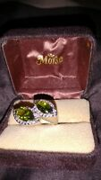 Beautiful Peridot ring with 925 silver setting size 6.5