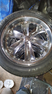 "305/45R22"" about 70% trad left rims are gm and chevy brand $1200"