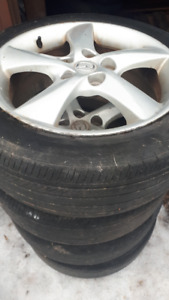 MAZDA 6 MAGS 17 INCHES WITH SUMMER TIRES