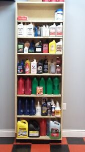all types of new oil and floor shelf to hold them London Ontario image 1