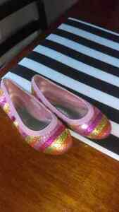 Girls size 10 ballet flats  Kitchener / Waterloo Kitchener Area image 1