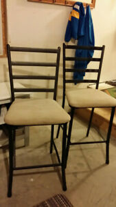 Cast Iron Bar Height Chairs