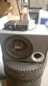 12 inch sub with amp