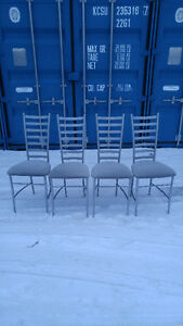 Set of 4 Metal Dining chairs - $50 Firm