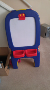Crayola chalk and white board easel