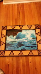 Original painting and hand made frame