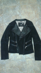 Black leather jacket, size M
