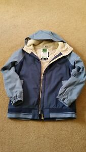 Various women's snowboard jackets and O'Neil snowpants