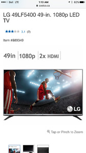 NEW LG 49LF5400 49-in. 1080p LED TV