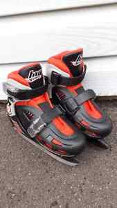 "Hot Wheels Kids ""Easy Snap"" Hockey skates (fits sizes Y11-Y8)"
