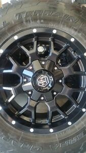 4 NEW MAYHEM RIMS WITH NITTO TERRA GRAPPLERS LT275/70/18