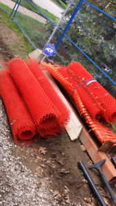 LOT of Orange safety / snow construction temporary fencing