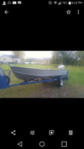 14' with 18hp Johnson and trailer $2000 OBO