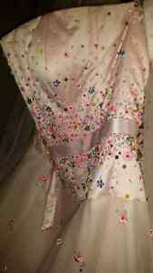 Pink dress with beading