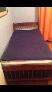 Single mattress/box spring and bed frame