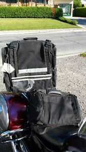 black travel bag for back of motorcycle  brand new