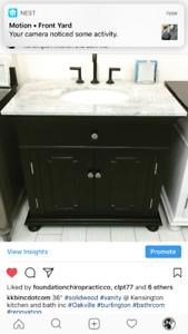 Below cost solid wood vanities w/ tops &sinks