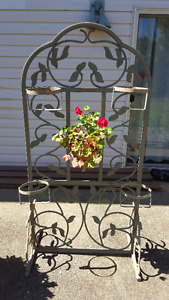 WROUGHT IRON PLANT STAND-$75