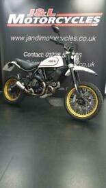 Ducati Scrambler Desert Sled in White. Low Mileage, Excellent Condition