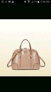 Auth GUCCI pink/blush patent leather bag