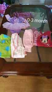 0-3 month Baby girl clothing